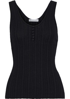 Altuzarra Woman Pointelle-knit Wool And Cashmere-blend Tank Black