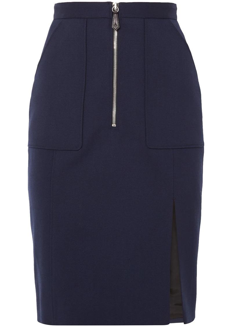 Altuzarra Woman Pollard Wool-blend Pencil Skirt Navy