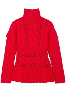 Altuzarra Woman Prelude Cable-knit Wool Turtleneck Sweater Red