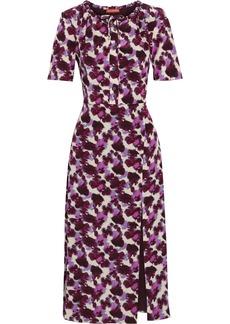 Altuzarra Woman Printed Silk-crepe Midi Dress Plum