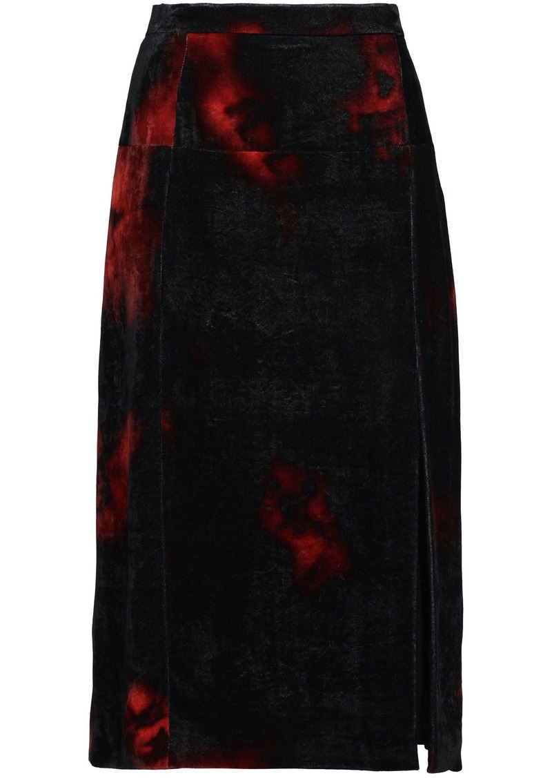 Altuzarra Woman Printed Velvet Pencil Skirt Black