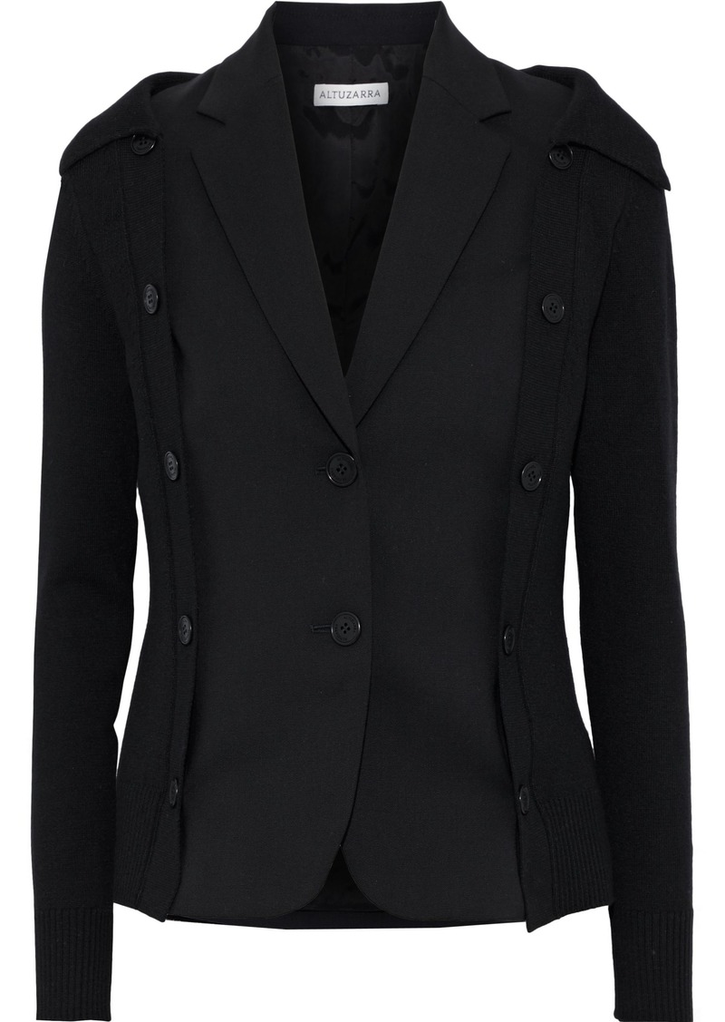 Altuzarra Woman Ravello Convertible Wool-blend Blazer Black