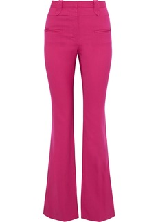 Altuzarra Woman Serge Wool-blend Piqué Flared Pants Fuchsia