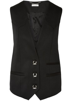 Altuzarra Woman Stretch-wool Gabardine Vest Black