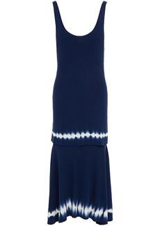 Altuzarra Woman Tie-dyed Ribbed Cotton Midi Dress Navy