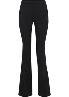 Altuzarra Woman Vespa Lace-paneled Wool-blend Flared Pants Black