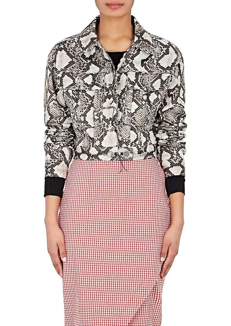 Altuzarra Women's Atoka Embellished Silk Trucker Jacket