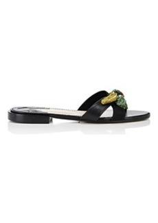 Altuzarra Women's Bisbee Leather Slide Sandals