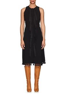 Altuzarra Women's Blanche Pom-Pom-Trimmed Crepe Dress
