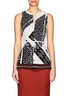 Altuzarra Women's Bourse Bandana-Print Silk Top