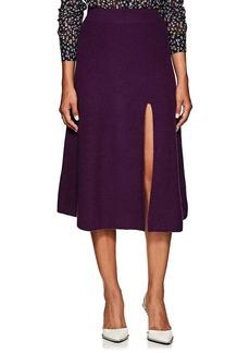 Altuzarra Women's Cavin Cashmere Slit Skirt