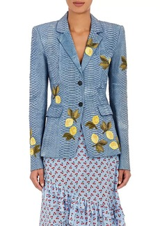 Altuzarra Women's Deming Python Jacket