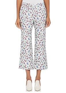 Altuzarra Women's Floral-Jacquard Flared Crop Pants