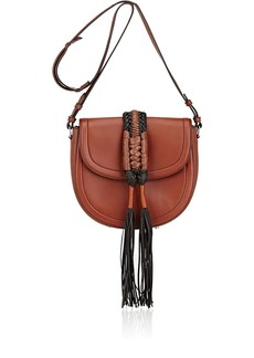 Altuzarra Women's Ghianda Knot Small Saddle Bag-Mahogany, Black