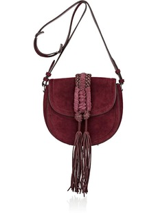 Altuzarra Women's Ghianda Knot Small Saddle Bag - Burgundy