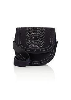Altuzarra Women's Ghianda Medium Suede Saddle Bag - Navy