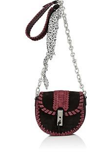 Altuzarra Women's Ghianda Mini Chain Saddle Bag-Burgundy, Black