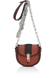 Altuzarra Women's Ghianda Mini Chain Saddle Bag-Mahogany, Black