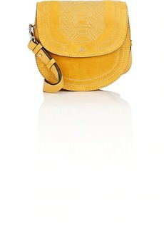Altuzarra Women's Ghianda Small Suede Saddle Bag - Yellow