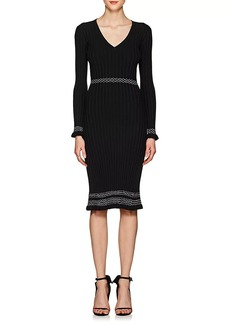 Altuzarra Women's Isolde Contrast-Stitched Rib-Knit Dress