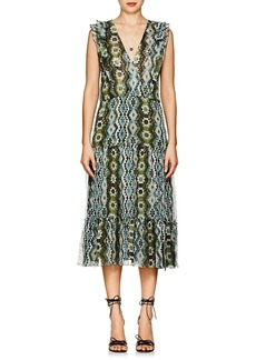 Altuzarra Women's Jorma Geometric-Print Silk Midi-Dress