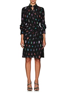 Altuzarra Women's Kat Feather-Print Silk Dress