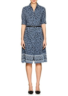 Altuzarra Women's Kieran Floral & Leopard-Print Silk Belted Dress