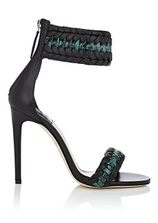Altuzarra Women's Leather & Python Braided Ankle-Strap Sandals