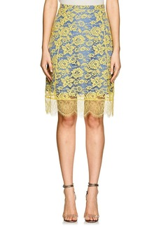 Altuzarra Women's Lulu Floral Lace A-Line Skirt