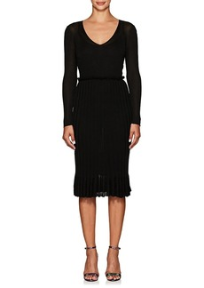 Altuzarra Women's Magus Metallic Rib-Knit Dress