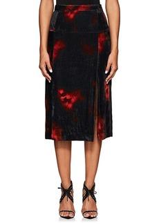 Altuzarra Women's Pennant Tie-Dyed Velvet Skirt