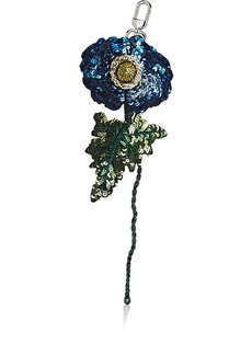 Altuzarra Women's Sequined Flower Bag Charm - Blue