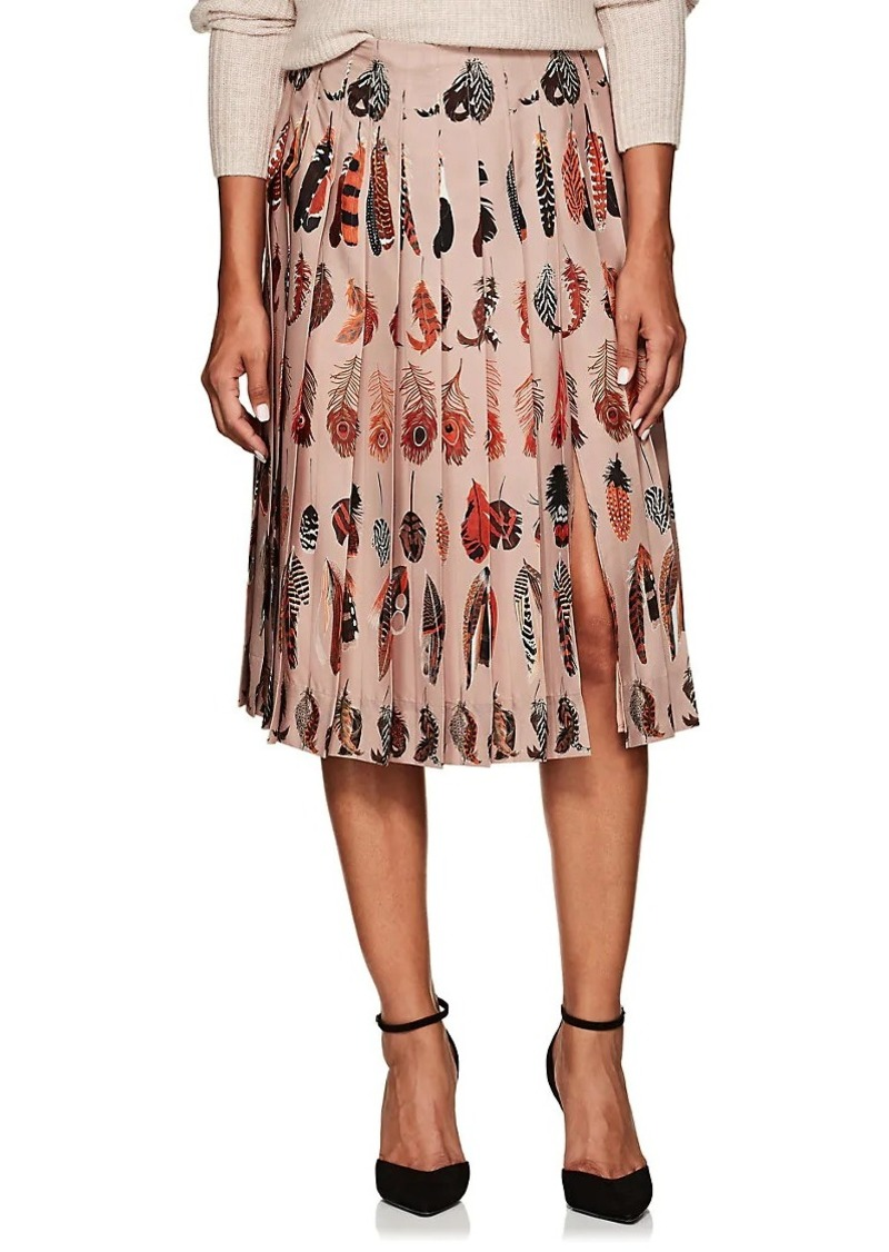 a5a863e106 Altuzarra Altuzarra Women's Sirocco Feather-Print Pleated Skirt | Skirts