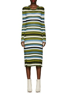 Altuzarra Women's Striped Rib-Knit Fit-&-Flare Midi-Dress