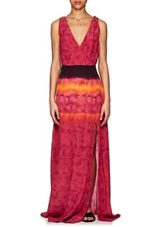 Altuzarra Women's Tie-Dyed Crepe Maxi Dress