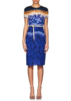 Altuzarra Women's Tie-Dyed Silk Midi-Dress