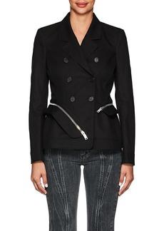 Altuzarra Women's Zip-Around Cotton Slim Double-Breasted Jacket