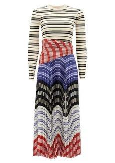 Altuzarra Woodbine striped stretch-knit dress