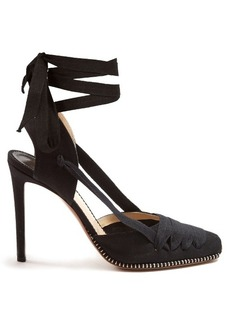 Altuzarra Wraparound canvas espadrille pumps