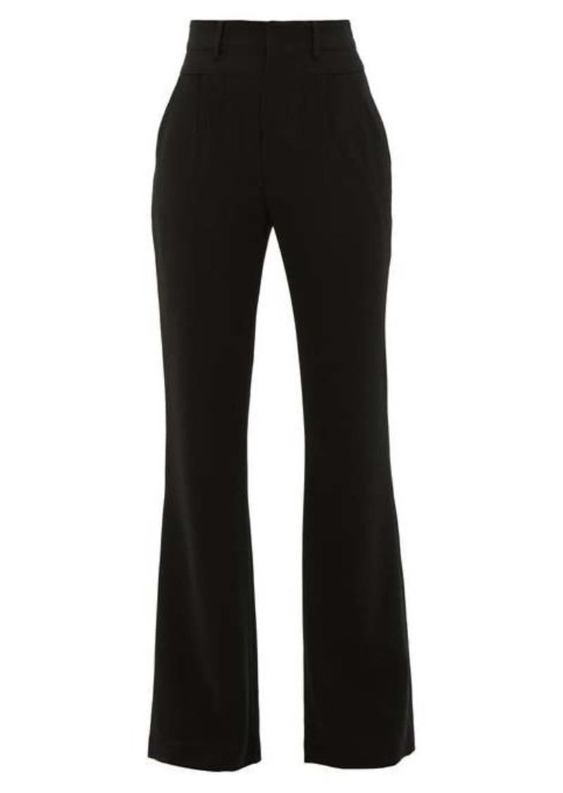 Altuzarra Zeke high-rise pintucked crepe tailored trousers