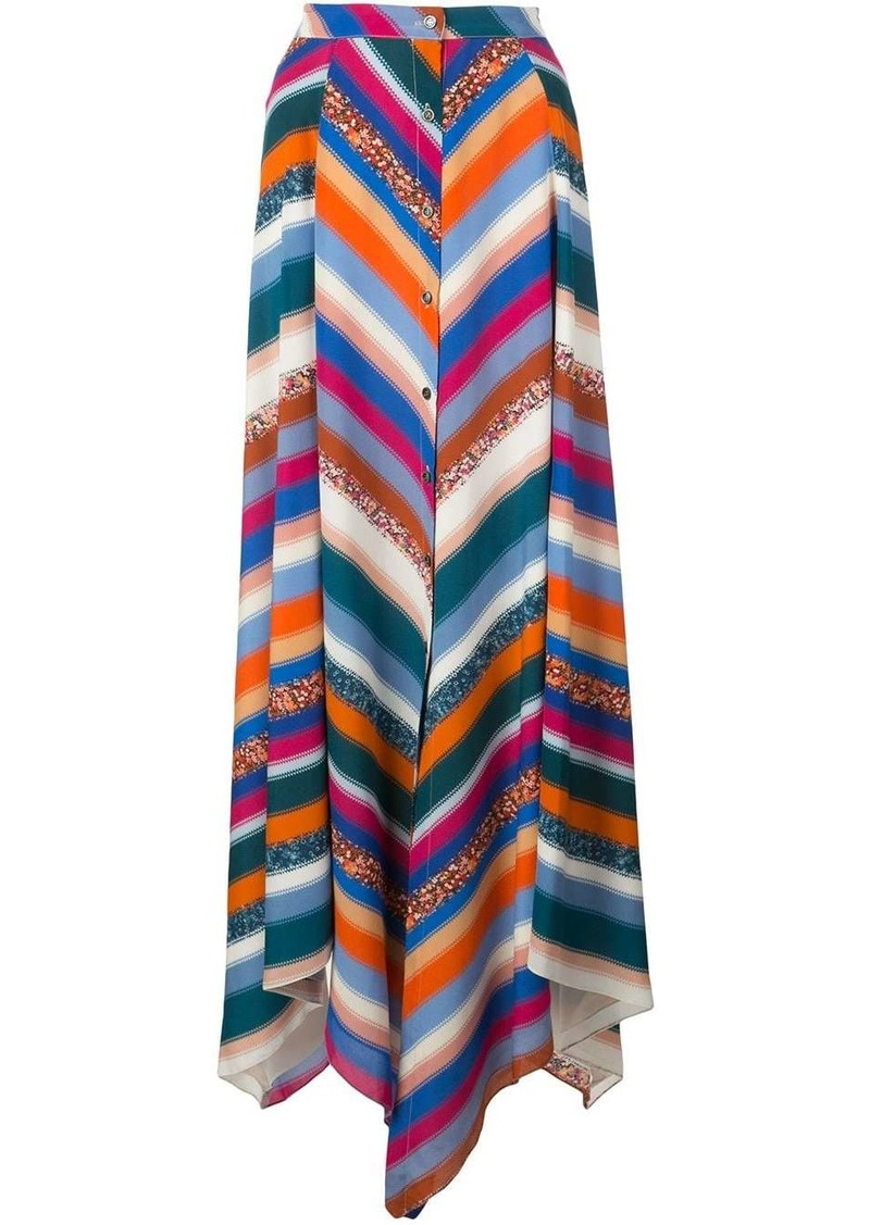 Altuzarra Aquarius striped skirt