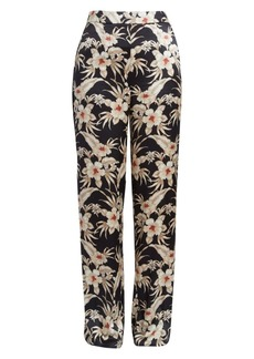 Altuzarra Bani Floral Silk Trousers