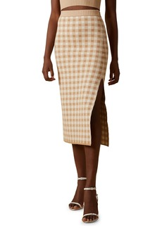 Altuzarra Billie Plaid Knit Midi Skirt