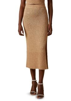 Altuzarra Billie Sequin Knit Slit Skirt