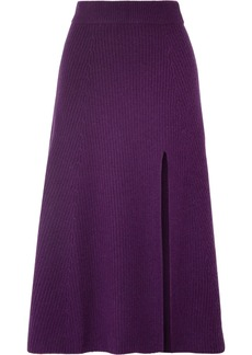 Altuzarra Calvin Ribbed Cashmere Midi Skirt