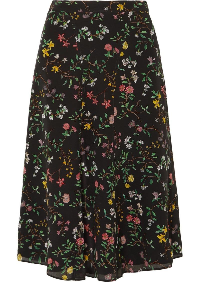 Altuzarra Carol Floral-print Silk Crepe De Chine Skirt