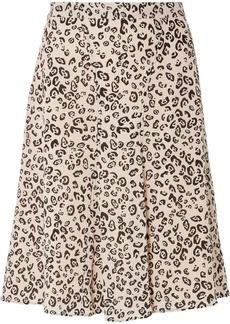 Altuzarra Caroline leopard-print silk crepe de chine skirt