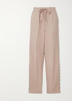 Altuzarra Catkin Embellished Linen-blend Twill Straight-leg Pants