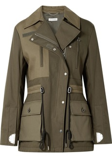 Altuzarra Chet Quilted Shell-paneled Cotton-twill Jacket