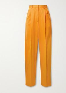 Altuzarra Cosmos Pleated Wool-blend Twill Straight-leg Pants